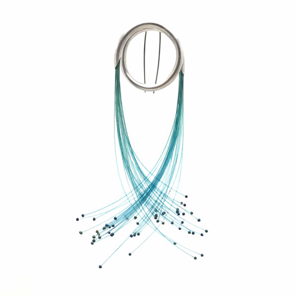 'Flow' - Aqua Brooch by Sophie Carnell
