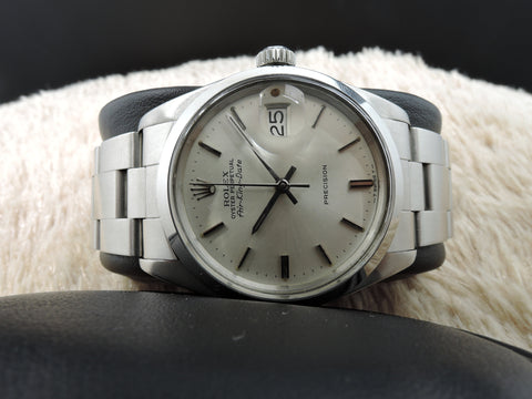1977 Rolex AIR KING DATE 5700 with Original Silver Dial and Oyster Band