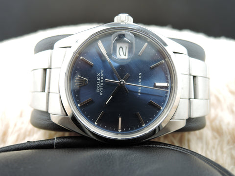 1978 Rolex OYSTER DATE 6694 Original Glossy Blue Dial with Oyster Band