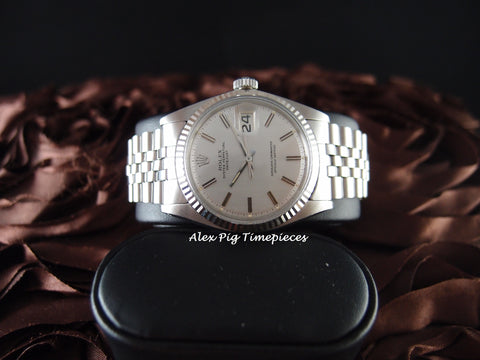 Rolex DATEJUST 1601 SS ORIGINAL Silver Sigma Dial with Special Pattern