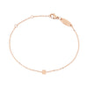 Rosary bracelet rose gold