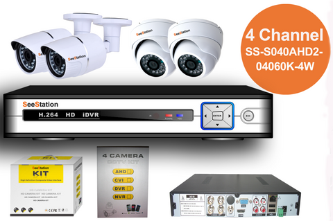 SeeStation (AHD) KIT 04 Channel 2MP/1080P Analog High Definition Surveillance Kit (FREE HDD) - PAM Distributing Co