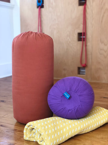 Solid Color Round Bolster