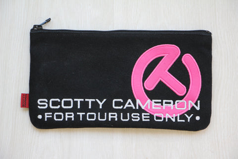 Scotty Cameron Black Limited Edition Pink Circle T Cash Bag