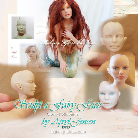 Sculpt a Fairy Face (with Glass-like eyes tutorial) DVD
