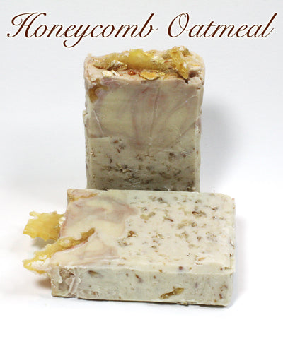 Handcrafted Luxury Soap - Oatmeal Honeycomb