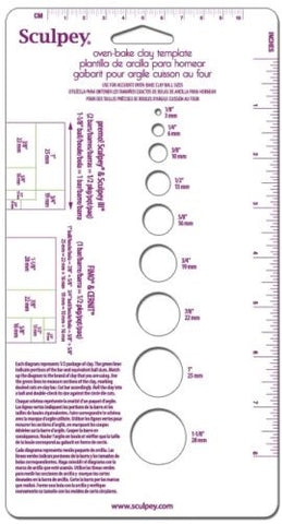 Sculpey Measuring Template & Ruler