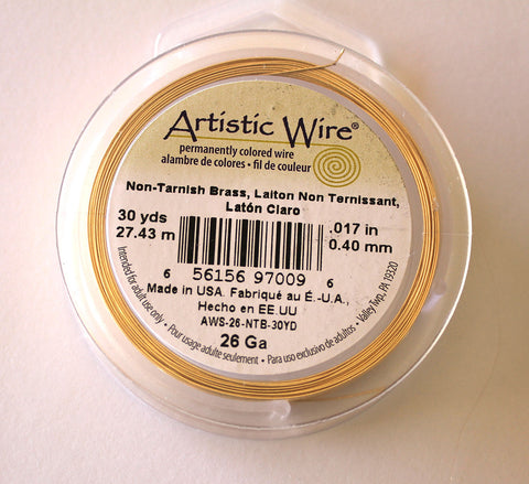 Wing Wire - Gold, 26 Gauge