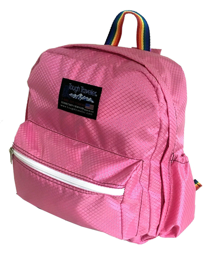 Pink backpack for elementary school made in USA