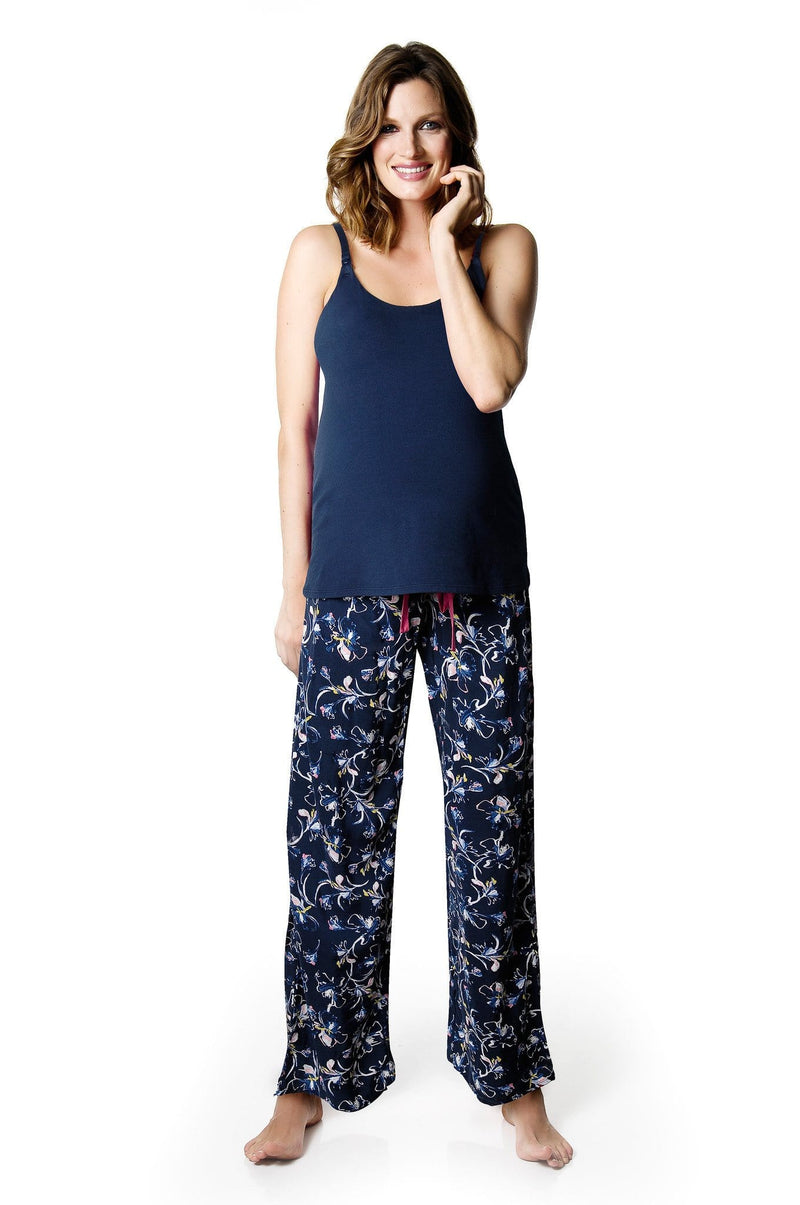 HOTMILK ENIGMA PJ PANTS WITH MY EVERYDAY NAVY CAMI