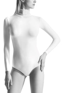 Oroblu Dolcevita Bodysuit Turtleneck This turtleneck long-sleeve bodysuit gives full coverage in skin-protecting smooth microfiber, with snap gusset closure.