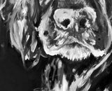 Working Cocker Spaniel Painting Print, black and white cocker Print ,dog portrait  English cocker spaniel gift idea Cocker spaniel art print - Dog portraits by Oscar Jetson - 5