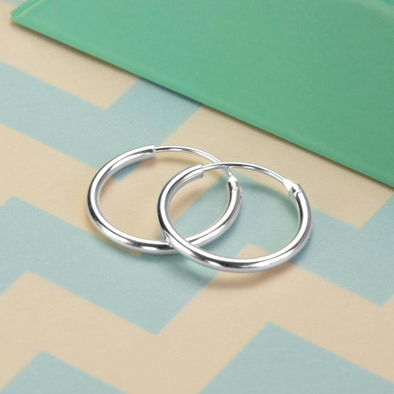 Sterling Silver 1.8cm Hoop Earrings