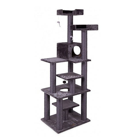 Kazoo 7 Level Cat Scratch Post Charcoal