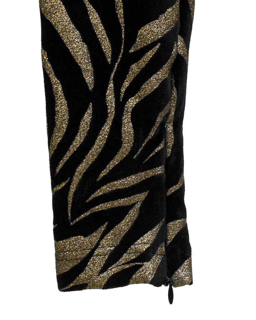 Black and Gold Tiger Stripe Leggings
