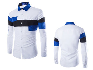 2016 European Striped Long Sleeve Dress Shirts - Dress Shirts - eDealRetail - 7