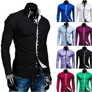 Double Collar Stylish Dress Shirts - Dress Shirts - eDealRetail - 1