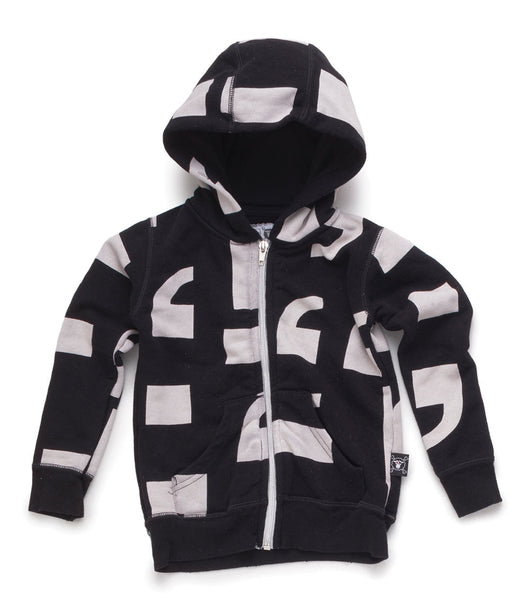Punctuation Zip Hoodie - Black