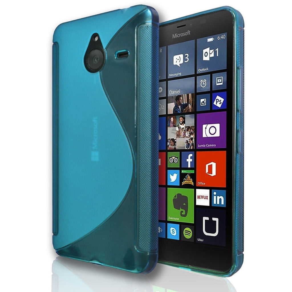 Nokia Lumia 530 S Line Silicone Gel Case Cover - Light Blue