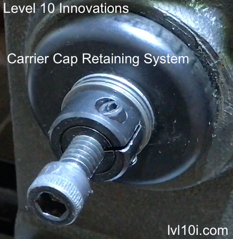 Carrier Cap Retaining System for Super 1050 Presses