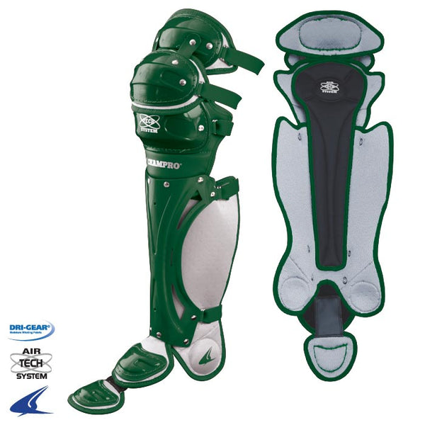 "Champro CG81 Pro-Plus 16.5"" Leg Guard Forest Green Pair - Forest"
