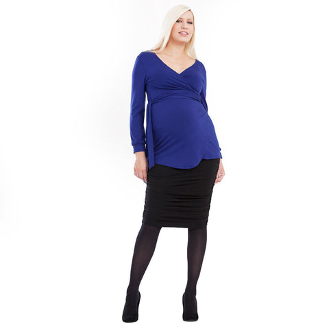 Maternity Or Pregnancy Skirt, Gathered Style - mumsbuddy.com