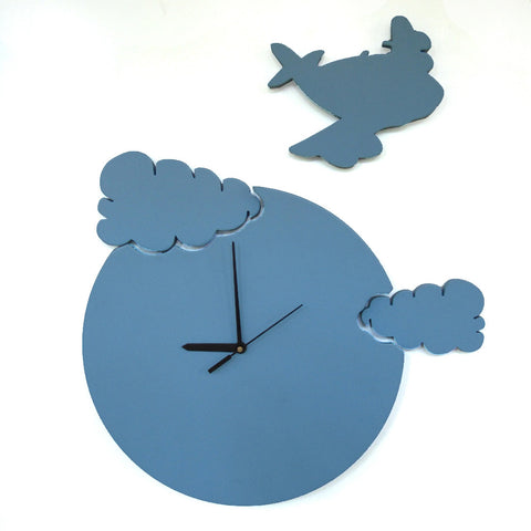 Aeroplane Wall Clock For Kids Room Decor - mumsbuddy.com