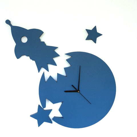 Rocket Wall Clock For Kids Room Decor - mumsbuddy.com