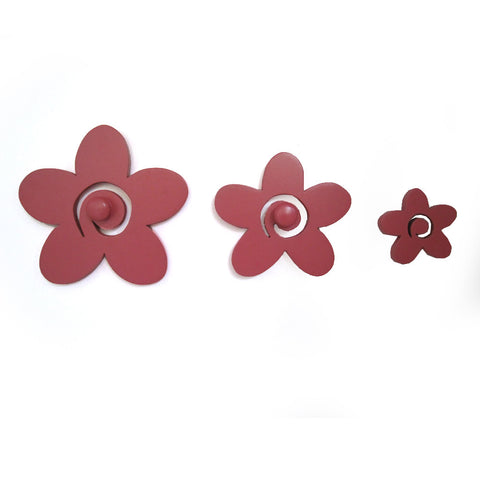Flower Pegs Or Knobs For Kids Room Or Bathroom - mumsbuddy.com