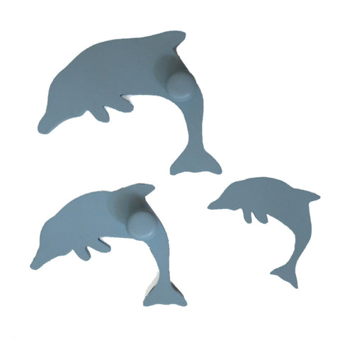 Dolphin Pegs Or Knobs For Kids Room Or Bathroom - mumsbuddy.com