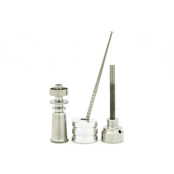 Queen 10mm Domeless Titanium Nail Female Joint (Complete Kit)