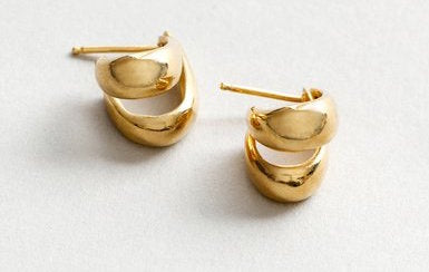 Margot Hoops Gold