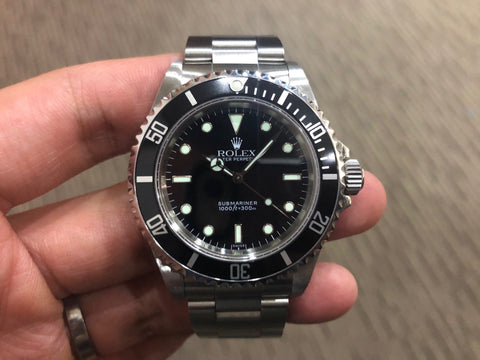 -Pre Owned- Rolex Submariner No Date Two Liner 14060 U Series