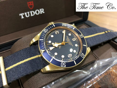 -SOLD- Tudor Black Bay Bronze Blue Bucherer 79250BB