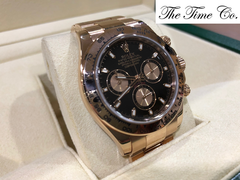 -SOLD- Rolex Daytona 18k Rose Gold 116505