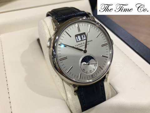 -SOLD- A. Lange & Sohne Saxonia Moonphase 18k White Gold