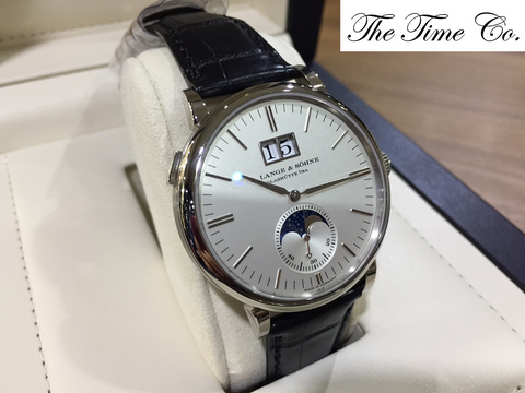 -SOLD- A. Lange & Sohne Saxonia Moonphase 18k White Gold 384.026