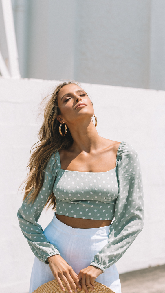 Allura Top - Mint Spot