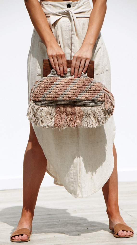 Amalfi Bag - Nude/Natural