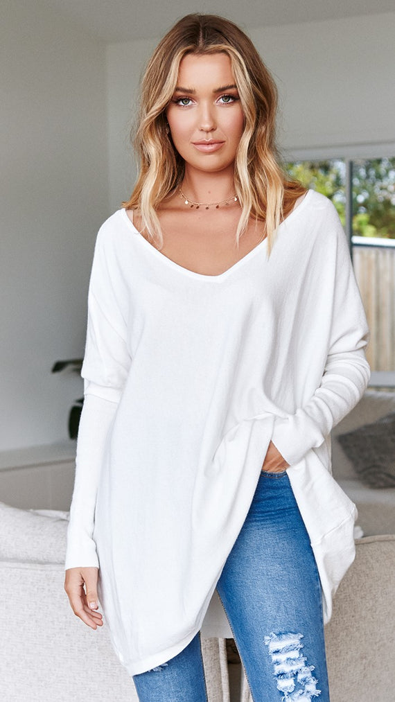 Amalia Knit Top - White