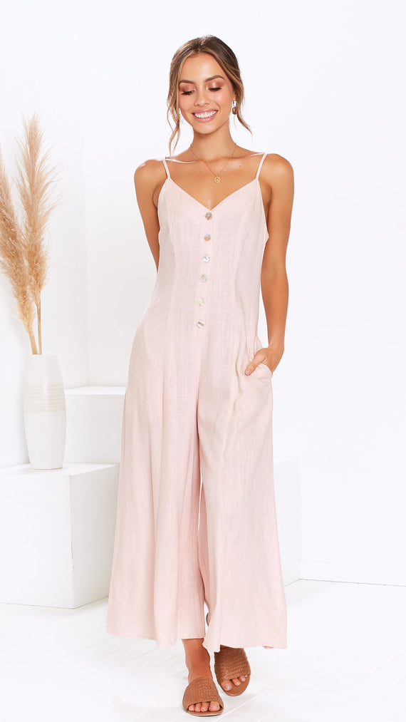 Almalfi Jumpsuit - Blush