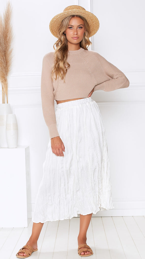 Amaranth Skirt - White