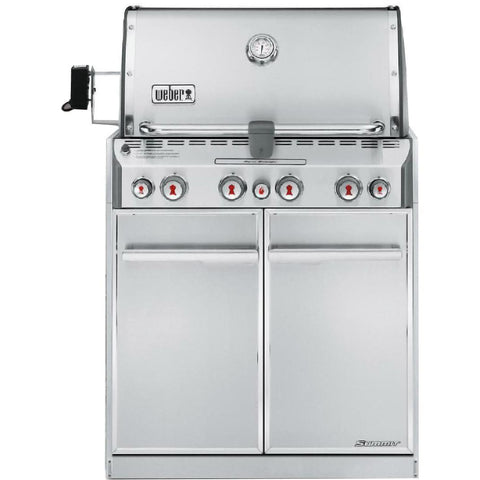 Weber Summit S-460 Built-In Grill With Rotisserie & Sear Burner
