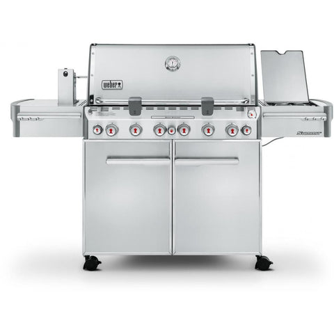 Weber Summit S-670 Freestanding Gas Grill With Rotisserie, Sear Burner & Side Burner