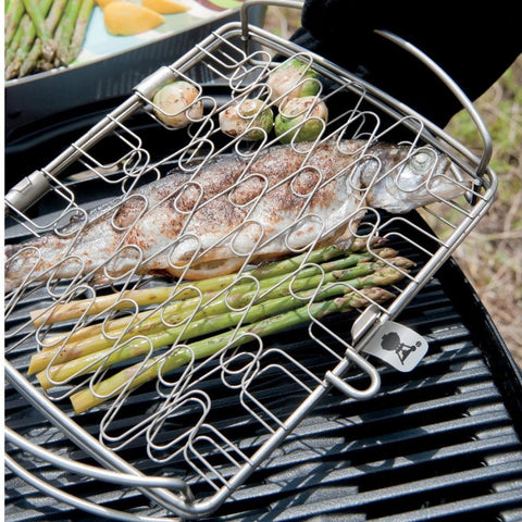 Weber 6470 Small Stainless Steel Grill Basket