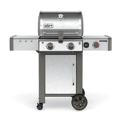 Weber Genesis II LX S-240 Gas Grill With Side Burner - Stainless Steel