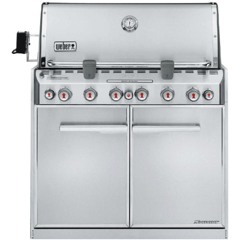 Weber Summit S-660 Built-In Gas Grill With Rotisserie & Sear Burner