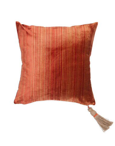 Sand Dance Velvet Cushion 50x50 Tobacco
