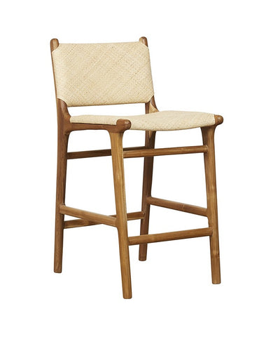 Maya Plush Counter Stool with Back