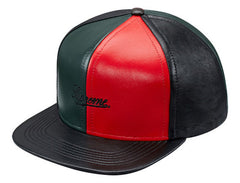 Supreme Leather Pinwheel Snapback - DS